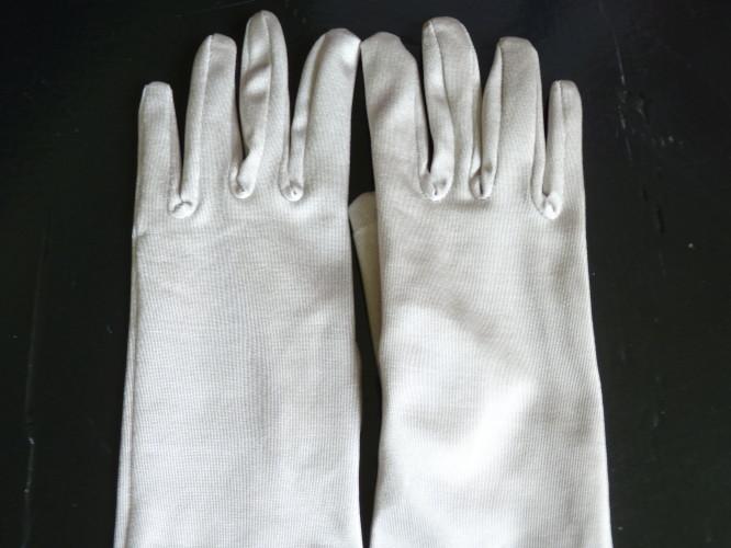 Wedding Glove Silver Grey