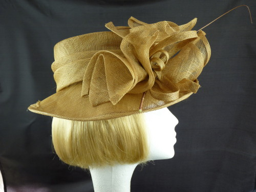 3691de12964aa Ascot Hats 4U - Failsworth Millinery Wedding hat Gold Quill in Gold