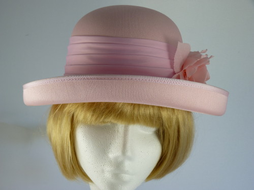 First Avenue Ascot hat in Pale Pink