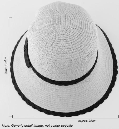 Hawkins Collection Cloche Straw Hat