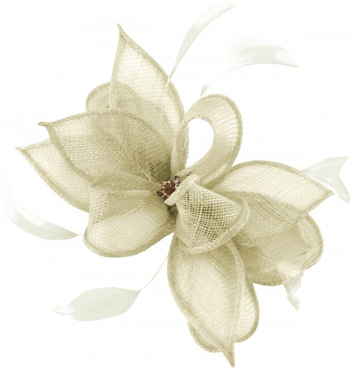 Failsworth Millinery Sinamay Clip Fascinator in White