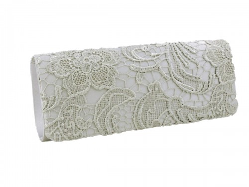 Papaya Fashion Lace Pattern Evening Bag