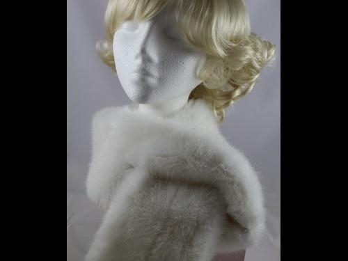 Whiteley Alaska Faux Fur Stole in White
