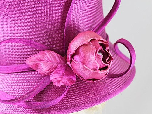 Whiteley Purple Wedding Hat