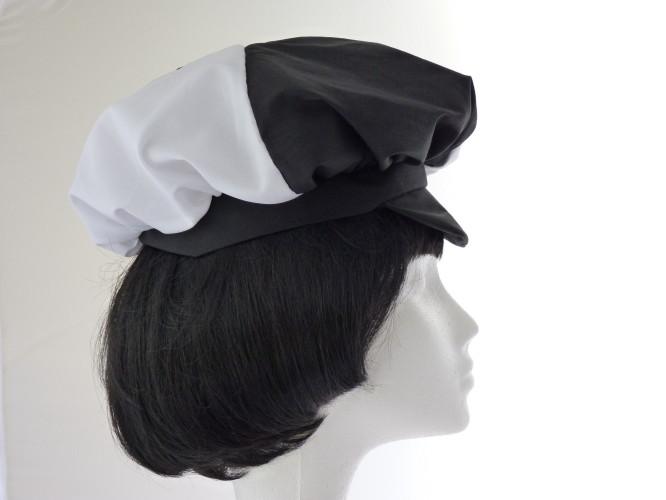 Ladies hat Black White peaked