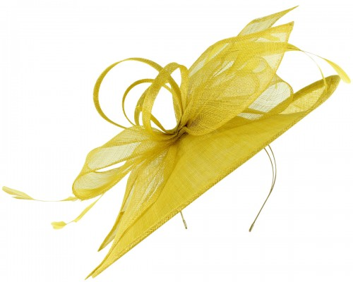 Max and Ellie Ascot Disc Headpiece in Yellow