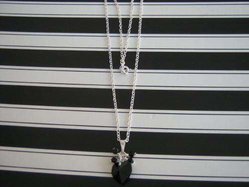 Necklace with Swarovski Chrystal and Jet
