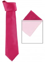 Max and Ellie Mens Tie and Pocket Square Set