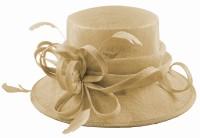 Elegance Collection Sinamay Loops Wedding Hat