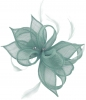 Failsworth Millinery Sinamay Clip Fascinator in Air