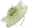 Failsworth Millinery Silk Rose Disc Headpiece in Aloe