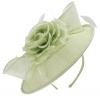 Failsworth Millinery Silk Rose Disc Headpiece in Aloe