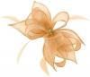 Failsworth Millinery Sinamay Diamante Clip Fascinator in Apricot