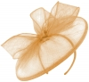 Failsworth Millinery Sinamay Disc in Apricot