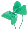 Molly and Rose Aliceband Diamante Hair Bow in Aqua