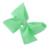 Molly and Rose Medium Diamante Hair Bow in Aqua