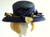 Wedding hat Navy antique roses