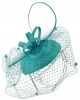 Max and Ellie Pillbox Fascinator in Azure