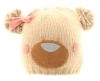 Hawkins Bear Ski Bobble Hat in Beige