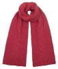 Boardman Cable Knit Scarf in Berry