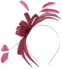 Failsworth Millinery Aliceband Sinamay Fascinator in Berry