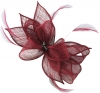 Failsworth Millinery Sinamay Diamante Clip Fascinator in Berry
