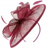 Failsworth Millinery Sinamay Disc Headpiece in Berry