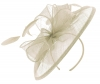 Failsworth Millinery Sinamay Disc Headpiece in Birch