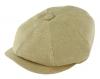 Failsworth Millinery Irish Linen Alfie Cap in Biscuit