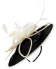 Failsworth Millinery Butterfly Events Disc in Black & Ivory