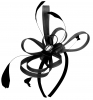 Aurora Collection Fascinator with Loops and Gem in Black