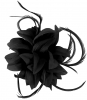 Aurora Collection Flower and Biots Fascinator in Black