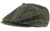 Boardman Harris Tweed Bakerboy Cap in Black