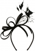 Elegance Collection Satin Loops Aliceband Fascinator in Black