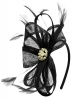 Elegance Collection Sinamay Headpiece Fascinator in Black