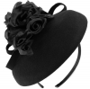 Failsworth Millinery Aliceband Wool Pillbox in Black