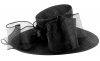 Failsworth Millinery Bow Ascot Hat in Black