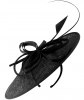 Failsworth Millinery Butterfly Ascot Disc in Black