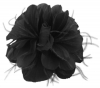 Failsworth Millinery Feather Fascinator in Black