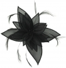 Failsworth Millinery Organza Leaves Fascinator in Black