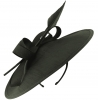 Failsworth Millinery Silk Disc Headpiece in Black