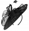 Failsworth Millinery Sinamay Leaves Disc in Black