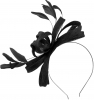 Failsworth Millinery Sinamay Loops Fascinator in Black