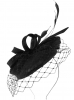 Failsworth Millinery Sinamay Pillbox in Black
