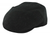 Failsworth Millinery Stornoway Flat Cap in Black