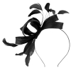 Failsworth Millinery Wide Loops Fascinator in Black