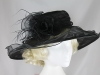 Hawkins Collection Large Brim Hat in Organza in Black
