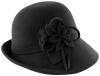 Hawkins Collection Wool Felt Vintage Cloche Bucket Hat in Black