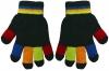 Magic Multi Coloured Gloves in Black