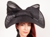 Matthew Eluwande Millinery Mary Headpiece in Black